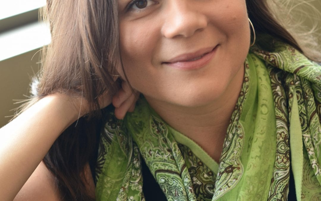 Johanna with green scarf